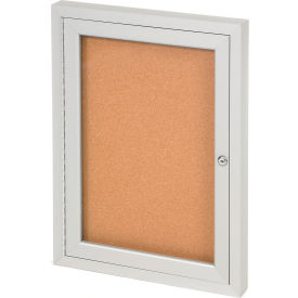"United Visual Products One-Door Indoor Corkboard - 24""W x 36"""