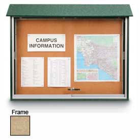 "United Visual Products Sliding-Door Outdoor Message Center - 52""W x 40""H - Sand"