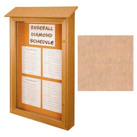 """United Visual Products Single-Door Outdoor Message Center - 26""""W x 42""""H - Sand"""