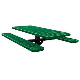 "72"" Single Post Rectangular Picnic Table Expanded Metal"