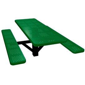 "48"" Single Post Rectangular Picnic Table Perforated Metal"