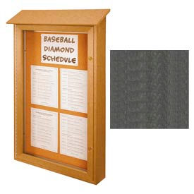 """United Visual Products Single-Door Outdoor Message Center - 26""""W x 42""""H - Woodland Green"""