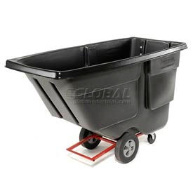 Rubbermaid Utility Duty 1 Cu. Yd. Garbage & Trash Tilt Truck