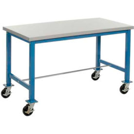 72 x 24 Plastic Square Edge Packaging Bench with Caster Kit