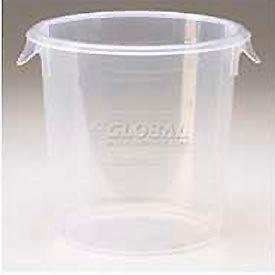 """Rubbermaid Commercial - FG572324CLR - Storage Container, Round, 6 Qt., 10"""" Dia. x 7-5/8""""H - Pkg Qty 12"""