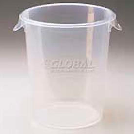 "Rubbermaid Commercial RCP572424CLE- Storage Container, Round 8 Qt., 10"" Dia. x 10-5/8""H - Pkg Qty 12"