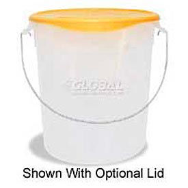 "Rubbermaid Commercial RCP572924CLE - Pail w/Bail, Semi-Clear, Plastic 22 Qts., 13-1/8"" Dia. x 14""H - Pkg Qty 6"