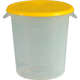 """Rubbermaid Commercial FG572200Yel - Lid For 8-1/2"""" Diameter Containers, Yellow, Polypropylene - Pkg Qty 12"""