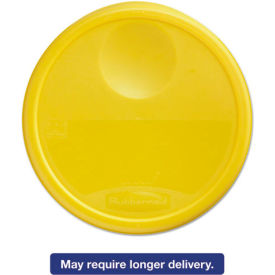 """Rubbermaid Commercial FG573000YEL - Lid For 13-1/8"""" Dia. 12, 18, 22 Qt., Containers, Yellow"""