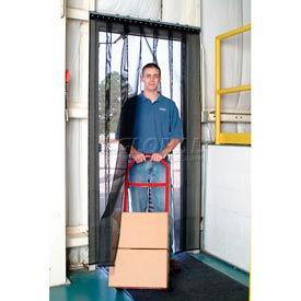 Aleco® Air-Flex® Black Insect Barrier & Bug Curtain 405082 2'W x 8'H