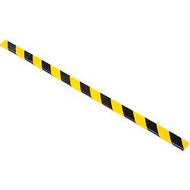 """Flat Bumper Guard, Type F, 39-3/8""""L x 1-9/16""""W x 7/16""""H, Yellow/Black"""