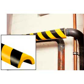 "Pipe Bumper Guard, Type R1, 39-3/8""L x 2""W x 1""H, Yellow/Black"