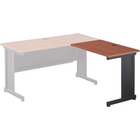 """36""""W Right Handed Return Table, Cherry"""
