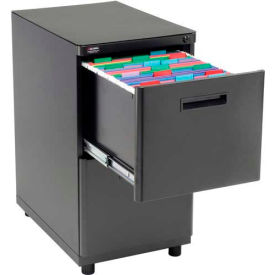 Charmant 2 Drawer Pedestal File/File   Black