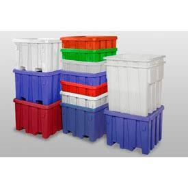MODRoto Bulk Container With Lid P340 - 48x48x30, Royal Blue