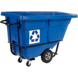 Rubbermaid® 1305-73 Standard Duty 1/2 Cu Yd Tilt Truck - We Recycle Logo