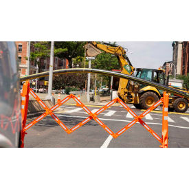Multi-Gate Expandable Portable Barricade, Orange & White