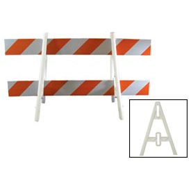Econocade Traffic Barricade A-Frame 6 Ft With 2 Rail