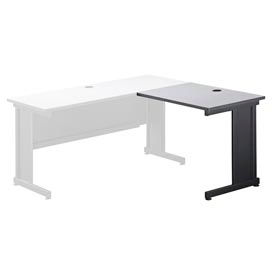"""36""""W Right Handed Return Table, Gray"""