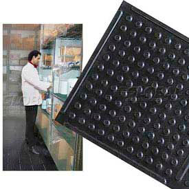 """Deep Freeze Rubber Antifatigue Mat 2 Ft Wide Up To 60 Ft 3/8"""" Thick Black"""