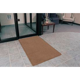 """Rubber Backed Barrier Rib Entrance Mat 2'X3' 3/8"""" Thick Brown"""