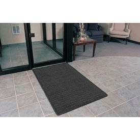 """Rubber Backed Barrier Rib Entrance Mat 4'X10' 3/8"""" Thick Charcoal"""