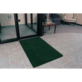 """Rubber Backed Barrier Rib Entrance Mat 4'X10' 3/8"""" Thick Hunter Green"""
