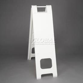 "Narrowcade Barricade Sign Stand 45"" H With 2 Panels No Sheeting"