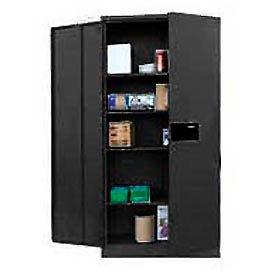 Sandusky Snapit Keyless Electronic Storage Cabinet KDE7236 Easy Assembly - 36x18x72, Black