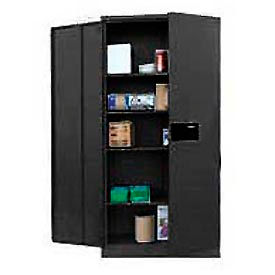Sandusky Snapit Keyless Electronic Storage Cabinet KDE7848 Easy Assembly - 48x24x78, Black