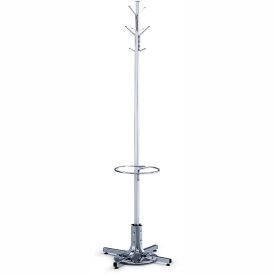 Coat Tree With Umbrella Stand -- Chrome