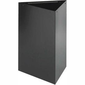 Triangular Recycling Receptacle - 15 Gallon Black