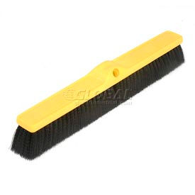 "Rubbermaid® 24""W Push Broom Head, Medium Polypropylene - FG9B0900BLA - Pkg Qty 12"