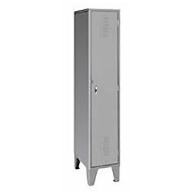 Pucel Extra Wide Welded Steel Lockers Single Tier 18x18x72 Gray