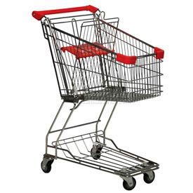 Good L Corp.® 10W Steel Shopping Cart 3.4 Cu. Ft. Capacity