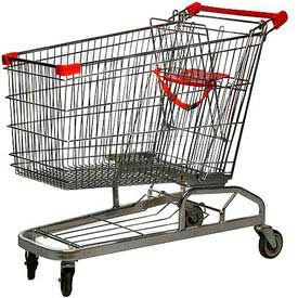 Good L Corp.® 25W Steel Shopping Cart 6.9 Cu. Ft. Capacity