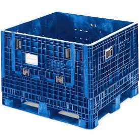 ORBIS BulkPak HDMP4845-34-22 BLUE Folding Bulk Shipping Container 48 x 45 x 34 1800 lb Capacity Blue