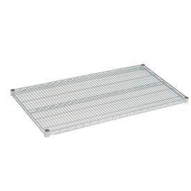 """Nexel S2448C Chrome Wire Shelf 48""""W x 24""""D with Clips"""