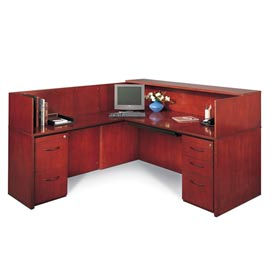 Reception Suite With Left-Hand Return - Cherry