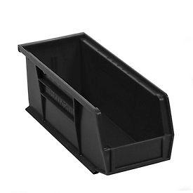 """Akro-Mils AkroBin® Plastic Stacking Bin 30224 - 4-1/8""""W x 10-7/8""""D x 4""""H, Black - Pkg Qty 12"""
