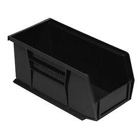 """Akro-Mils AkroBin® Plastic Stacking Bin 30230 - 5-1/2""""W x 10-7/8""""D x 5""""H, Black - Pkg Qty 12"""