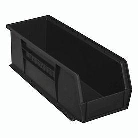 """Akro-Mils AkroBin® Plastic Stacking Bin 30234 - 5-1/2""""W x 14-3/4""""D x 5""""H, Black - Pkg Qty 12"""