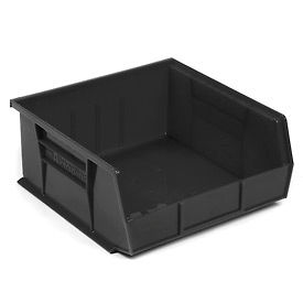 """Akro-Mils AkroBin® Plastic Stacking Bin 30235 - 11""""W x 10-7/8""""D x 5""""H, Black - Pkg Qty 6"""