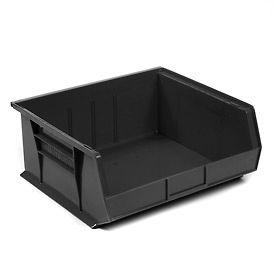 """Akro-Mils AkroBin® Plastic Stacking Bin 30250 - 16-1/2""""W x 14-3/4""""D x 7""""H, Black - Pkg Qty 6"""