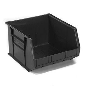 """Akro-Mils AkroBin® Plastic Stacking Bin 30270 - 16-1/2""""W x 18""""D x 11""""H, Black - Pkg Qty 3"""