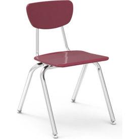 Virco® 3018 Martest 21® Hard Plastic Chair - Burgundy - Pkg Qty 4
