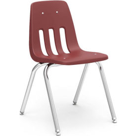 Virco® 9018 Classic Series™ Classroom Chair - Burgundy Vented Back - Pkg Qty 4