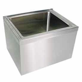 Stainless Steel Mop Sink : ... Sinks John Boos EMS-1620-12 12
