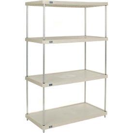 """Plastic Shelving Unit 36""""Wx18""""Dx86""""H Solid Shelf"""