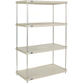 "Plastic Shelving Unit 48""Wx24""Dx86"" H Solid Shelf"